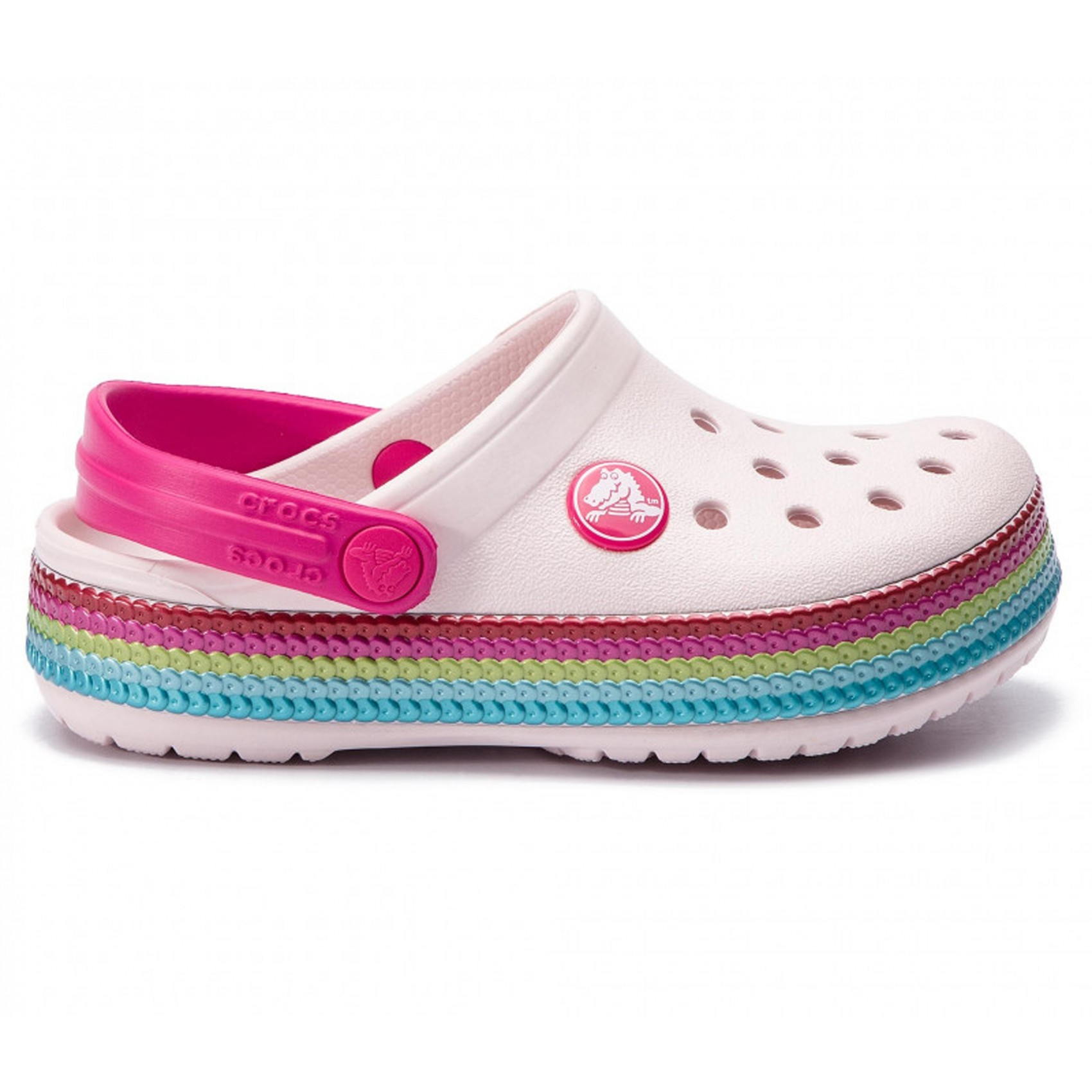 9163dcdcb Crocband Sequin Band Clog from Princesse Ilou