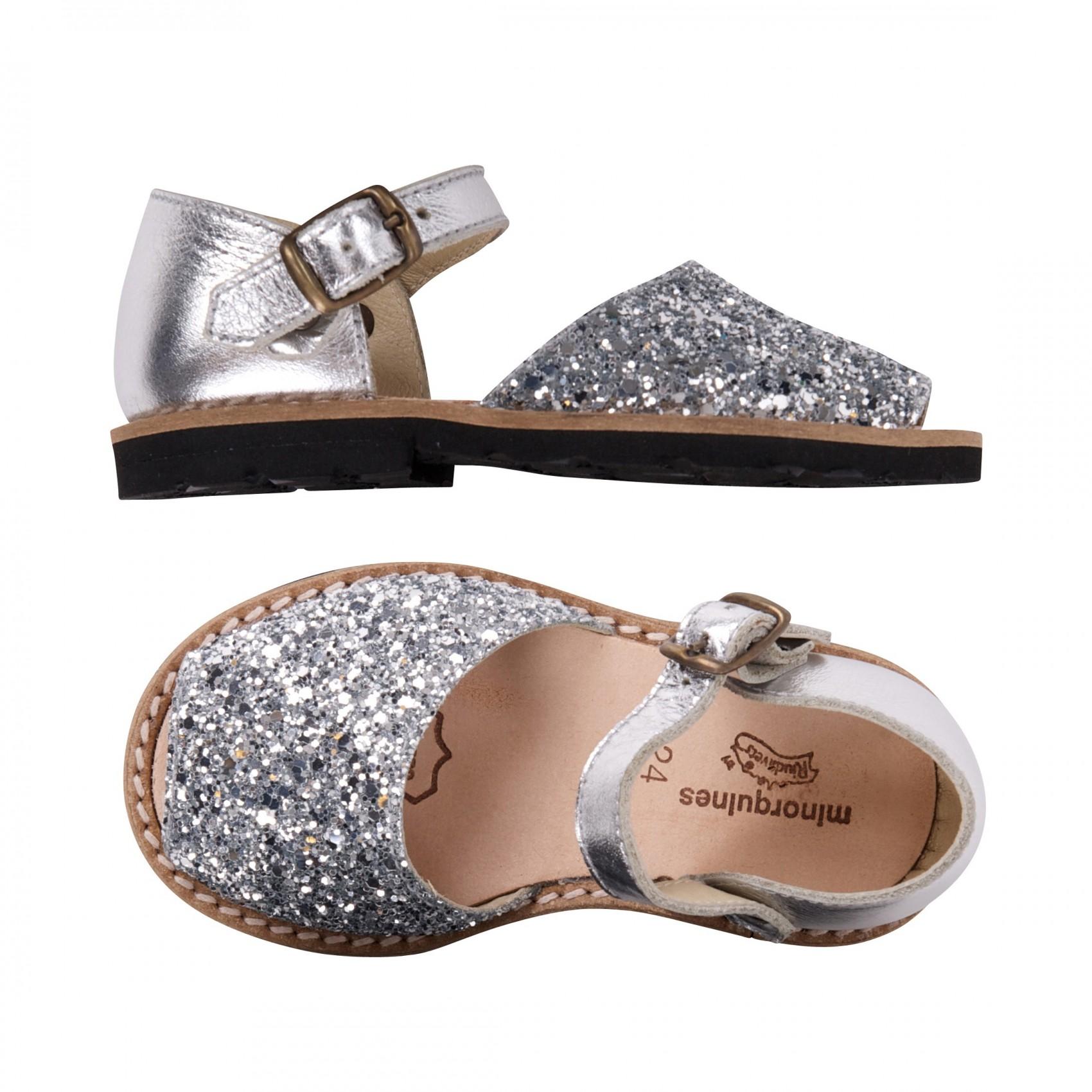 Chaussures Minorquines 30 argentées enfant PHKI60m