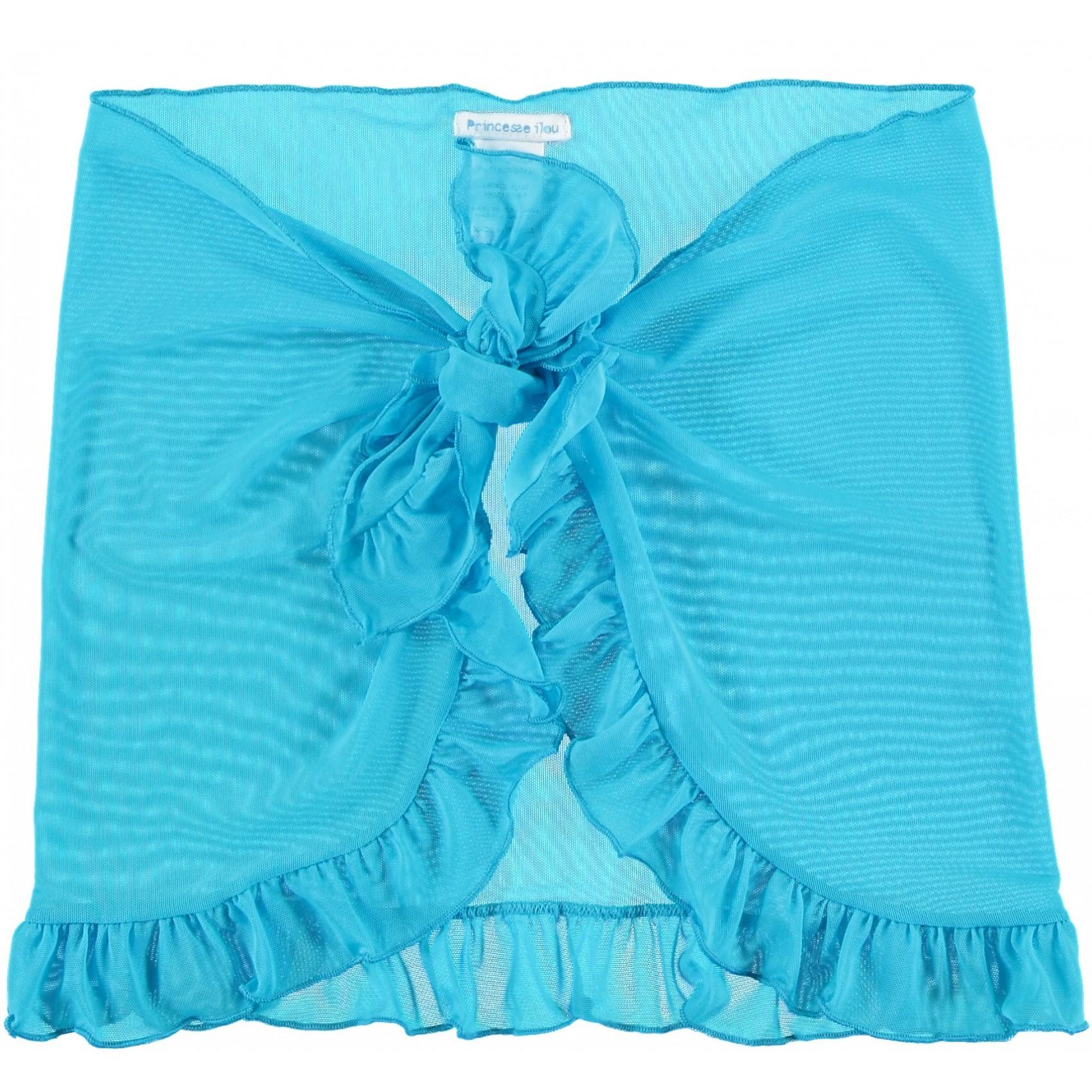 023716e365 Blue short Mesh Cover-Up Swimsuit Fluo Princesse Ilou