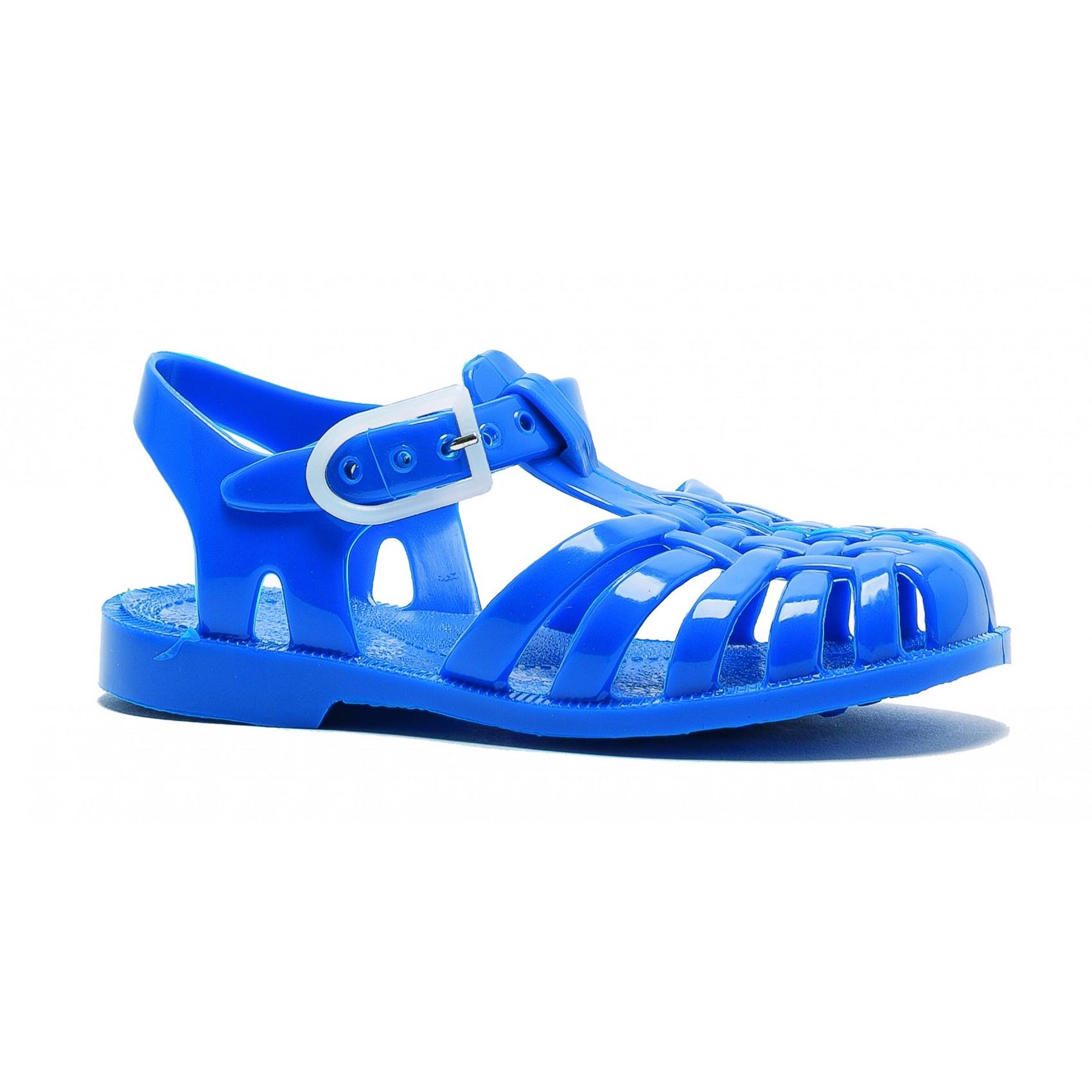 sandales enfant en plastique bleu roy m duse chez. Black Bedroom Furniture Sets. Home Design Ideas