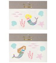 Tatouages éphémères Mermaids