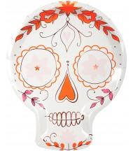 Assiette en carton Skull mexicain