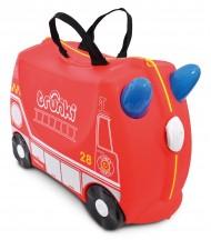 Valise à roulettes garçon Voiture de pompier
