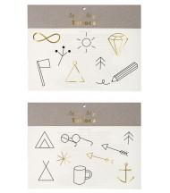 Tatouages éphémères symboles Camping