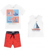 T-shirt, débardeur et short bébé garçon