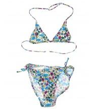 Bikini triángulos estampado flores