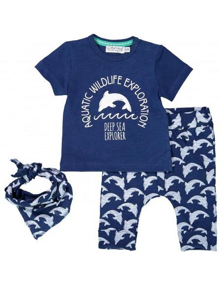 T-shirt, pantalon et bandana bébé garçon