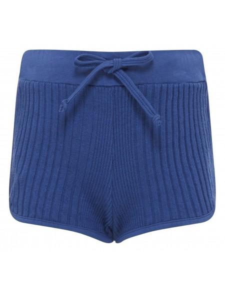 Short en coton uni cotelé RIO