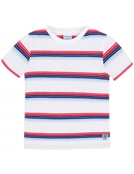 T-shirt garçon coton rayé
