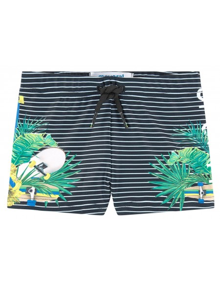 Print stretch swim short