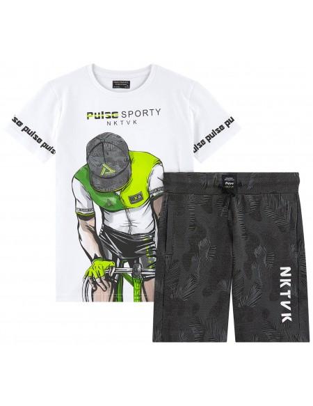 T-shirt et short garçon Cycliste