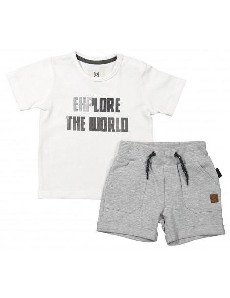 T-shirt et short garçon Explore