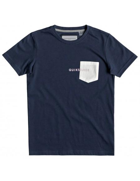 T-shirt garçon uni avec poche Axiom