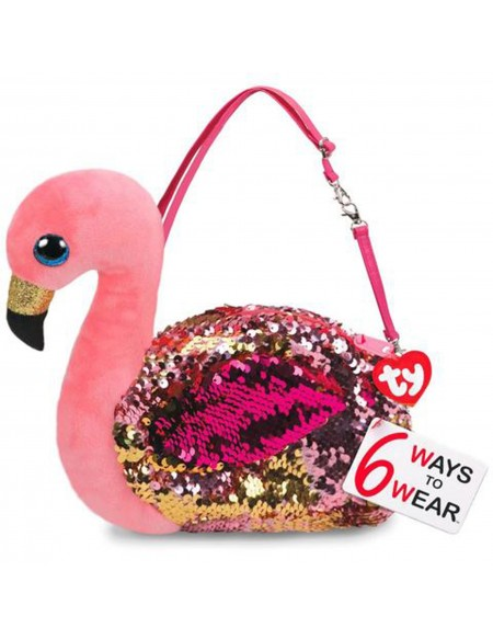 Sac à main à paillettes Gilda Le flamant rose