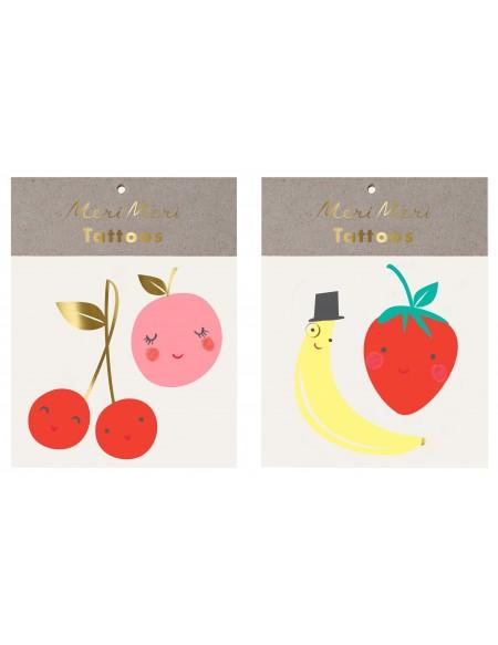 Tatouages éphémères Fruit