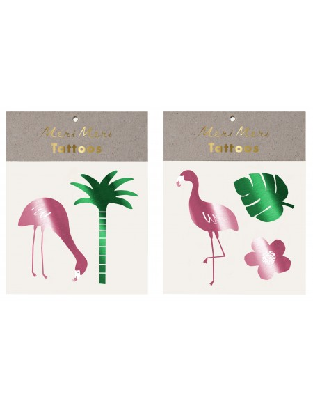 Tatouages éphémères Flamingo