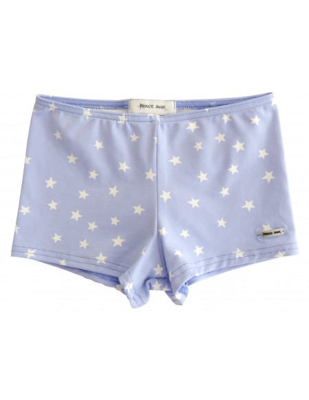 Blue star printed stretch swim short
