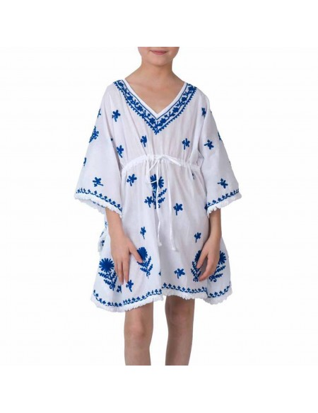 Nautical stripes terry coverup