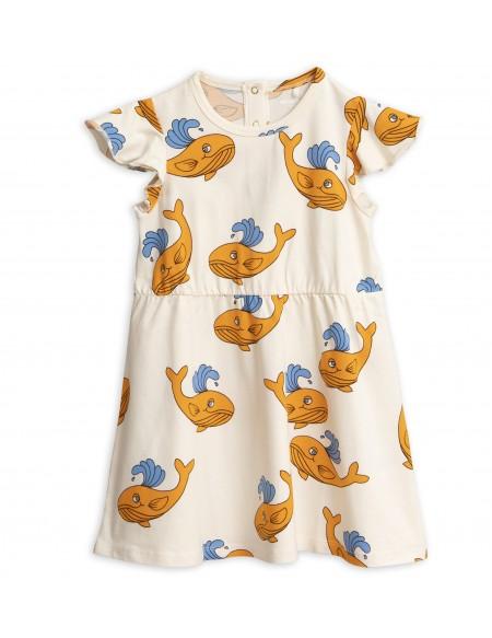 Whale aop wing dress