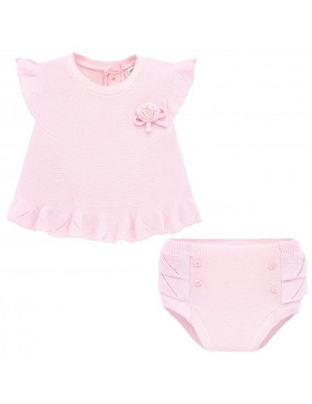 Haut et short bébé en tricot
