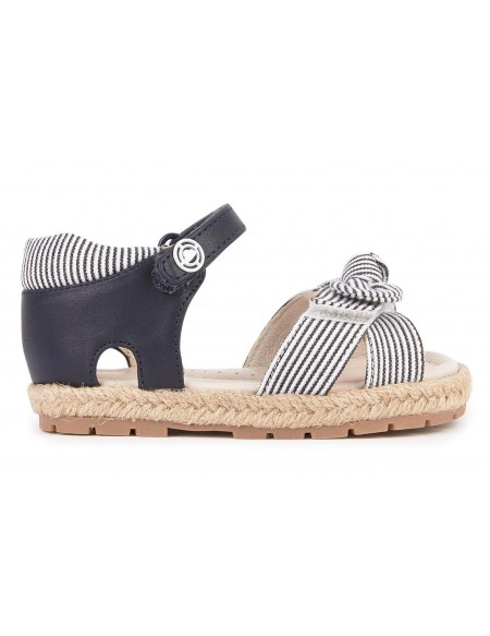 Buckled sandals with glitter