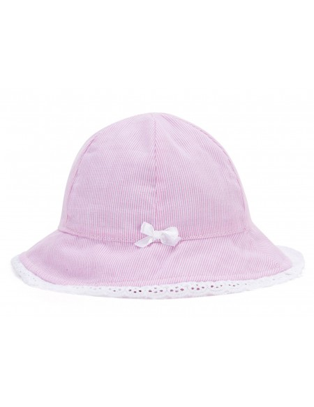 Chapeau bébé rayé avec noeud