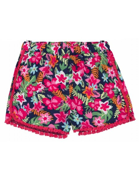 Short bébé imprimé tropical