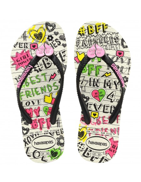 Kids Slim BEST FRIENDS Girl flip flops