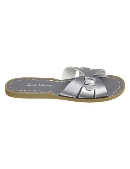 Sandales uni cuir Slides