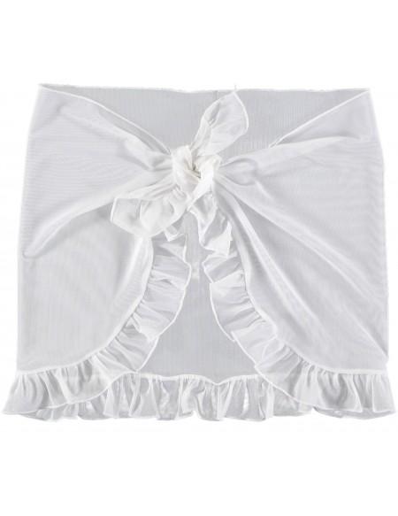 White short mesh cover-up Swimsuit