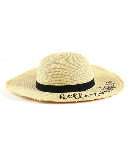 Chapeau de paille HELLO SUNSHINE