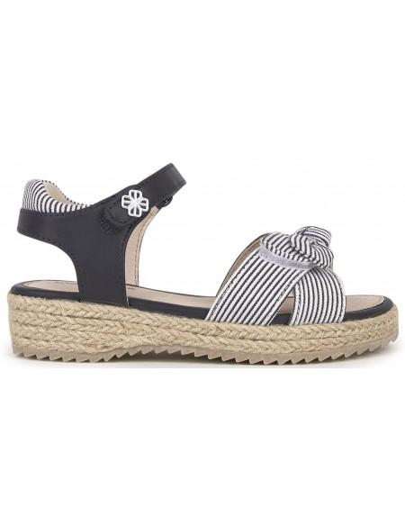 Sandales jute à noeuds