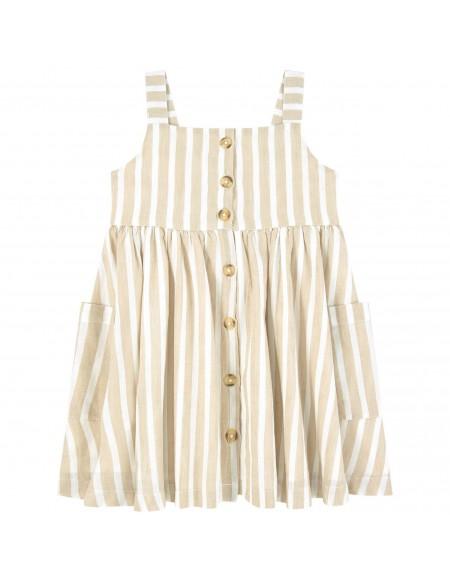 Vestido rayas diagonales niña