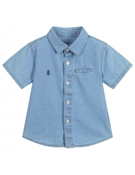 Chemise bébé garçon à pois