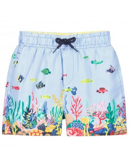 Striped boys swim short
