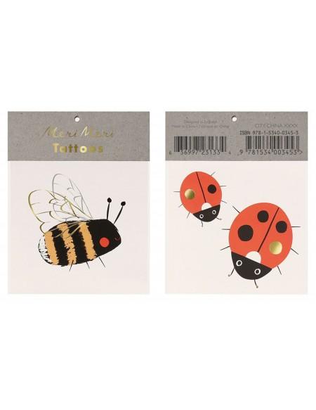Bee and Ladybird tattoos