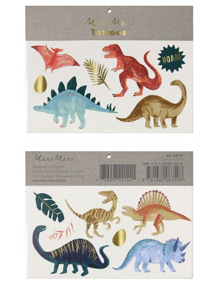Dinosaur tatuajes temporales