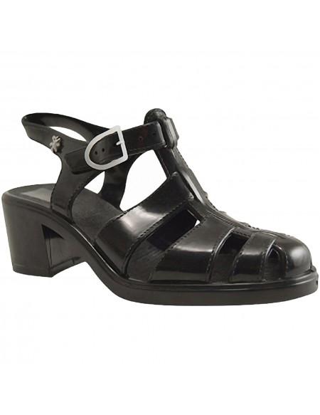 Black Plastic Sandals