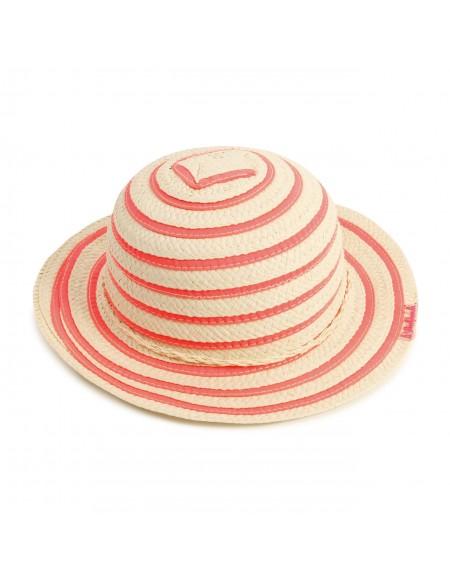 Chapeau de paille rayé