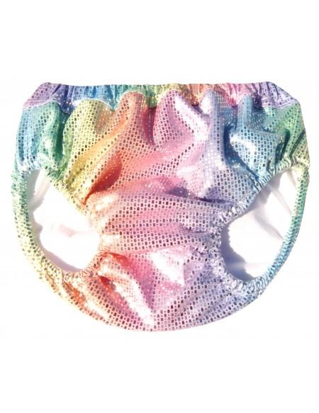 Rainbow print anti leak swimming