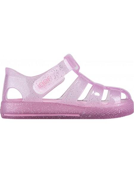 Sandales en plastique bébé STAR GLITTER