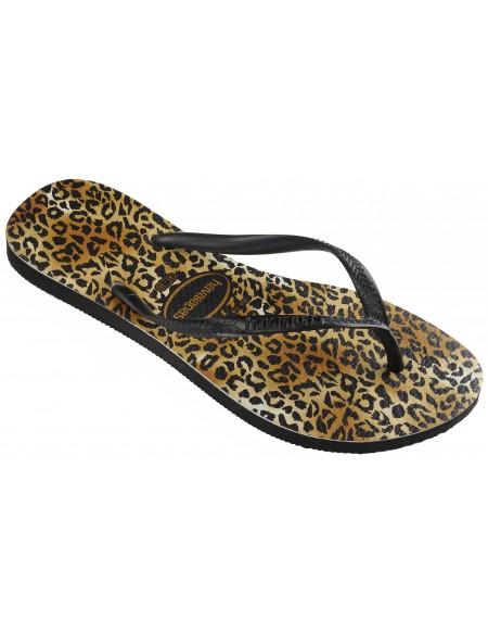 Leopard print flip flop