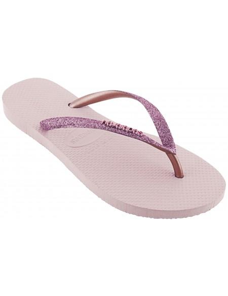 Slim Shiny flip flops