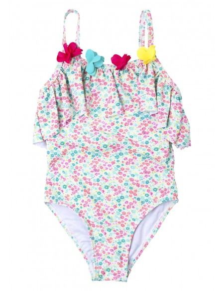 Maillot de bain bébé 1 pièce imprimé fleuri
