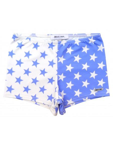 Boxer baño estrellas azul