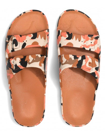 Sandales imprimé ARMY CORAIL