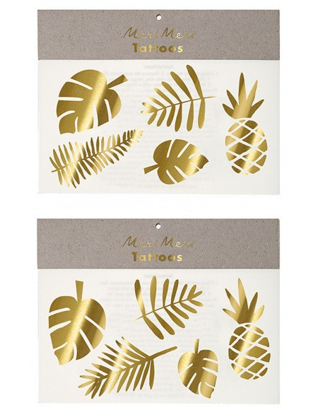 Gold tropical Tattoos