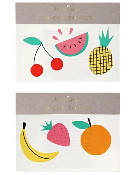 Foil Neon Fruit Tattoos
