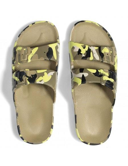 Sandales nu-pieds imprimé ARMY ACID