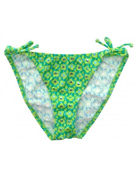 Green bow printed swimming bottom